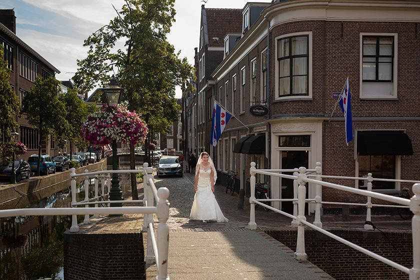 zomerse bruiloft in leiden