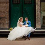 Bruiloft in warm Rotterdam