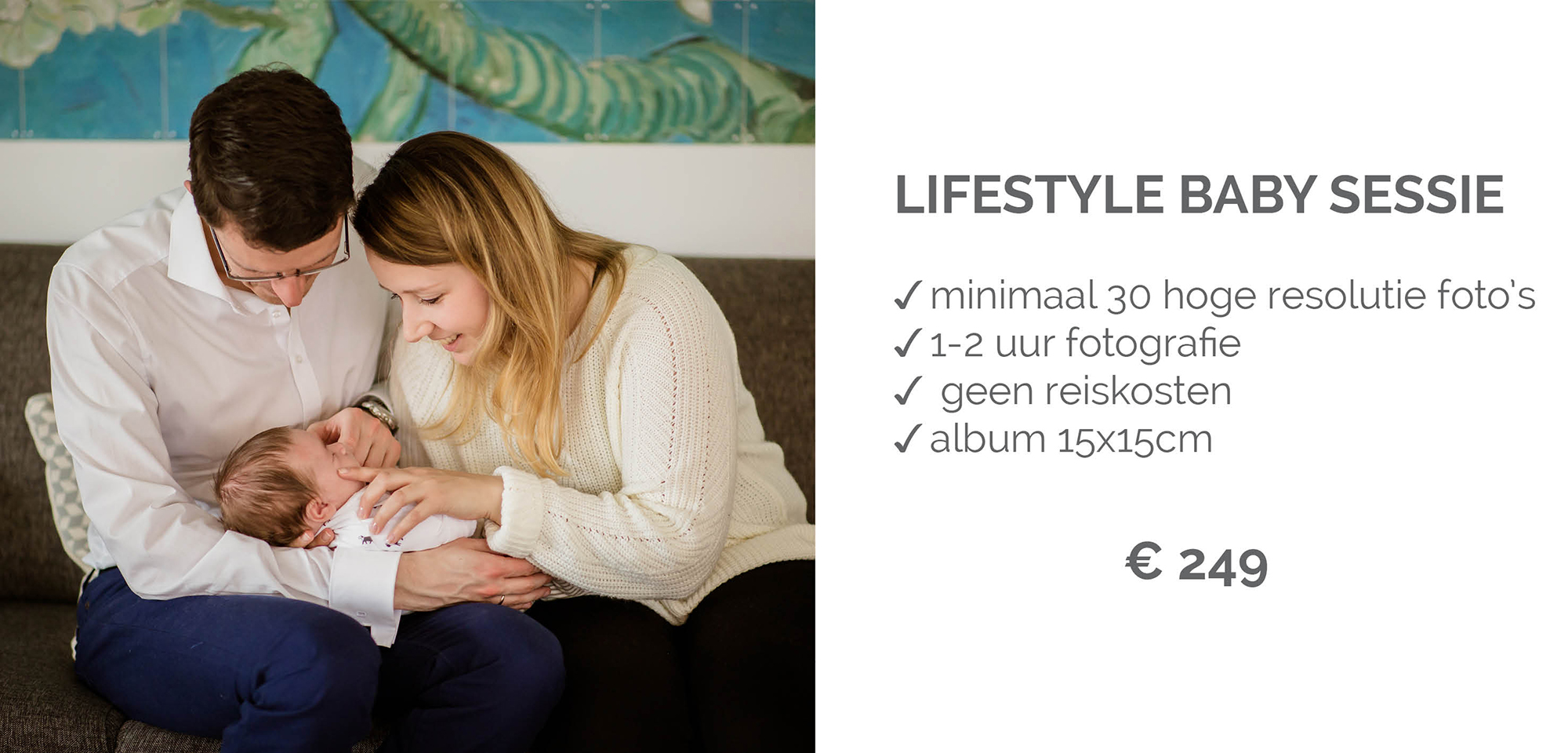 Lifestyle Baby Fotosessie